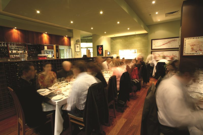 People dining at Benchmark Wine Bar