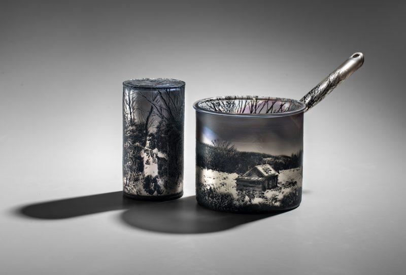 A Winters Journey - Saucepan - blown glass