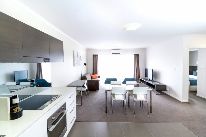 Interior of a Abode Tuggeranong one bedroom apartment