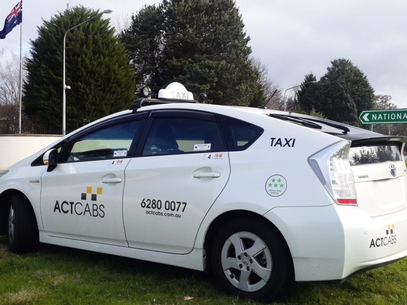 ACT Cabs taxi - left side