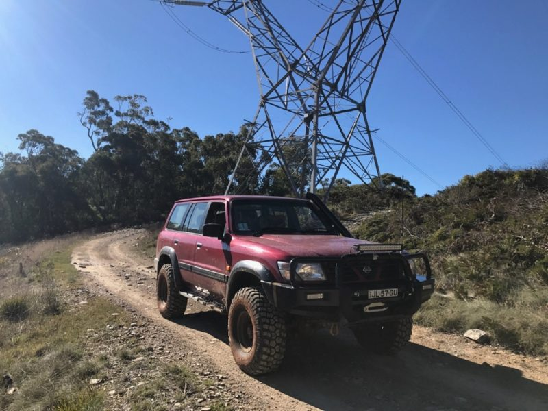 4WD on dirt road