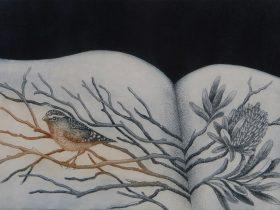 Kati Thamo - 'In clear air', 2018, etching and aquatint, 22 x 30cm