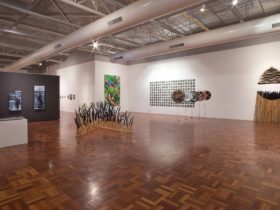The inside of the ANU School of Art Gallery