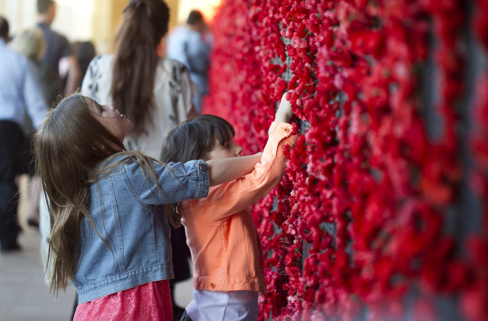 Children at the Roll of Honour