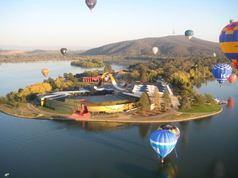 Balloons over National Museum Canberra