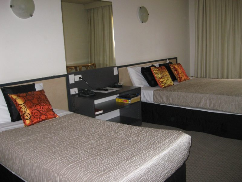 Renovated motel room