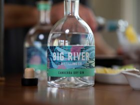 Canberra Dry Gin bottle shot