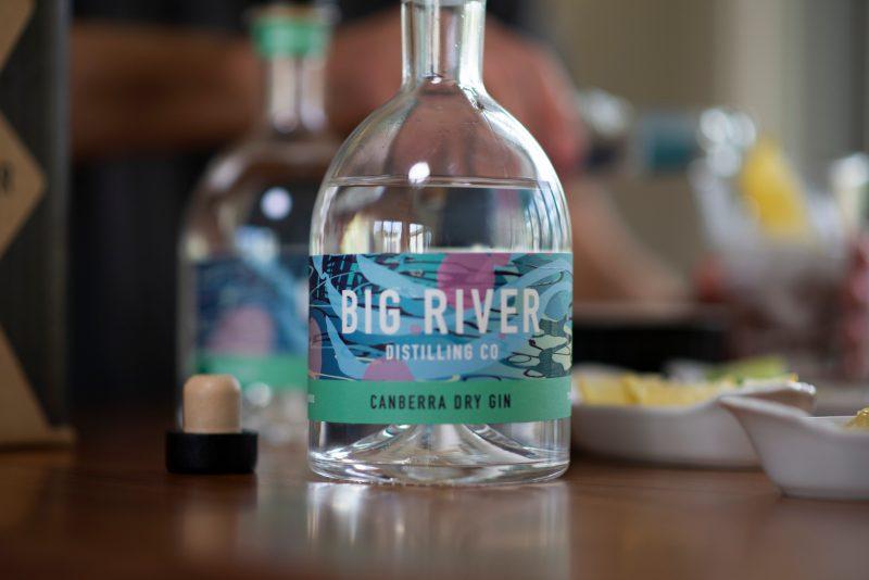 Canberra Dry Gin bottle shot