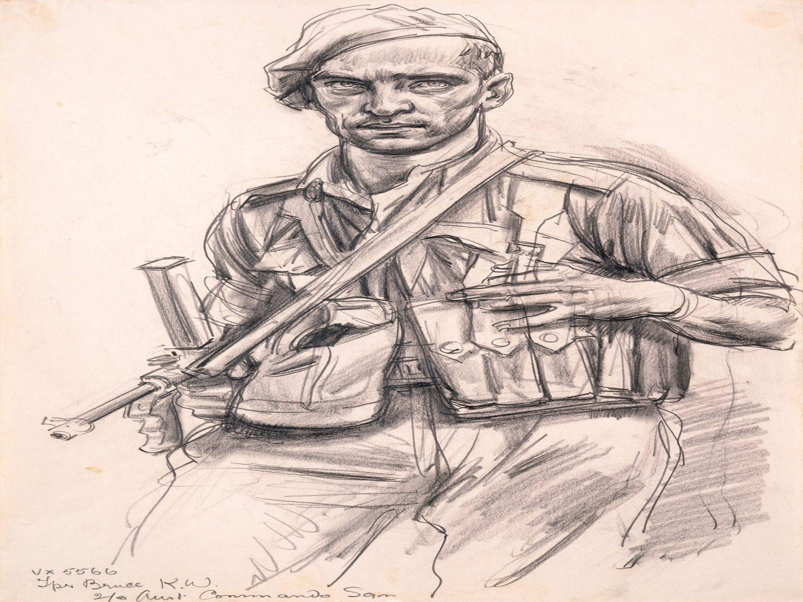 Ivor Hele, Trooper Kelvin Bruce, 1944.(ART25756)