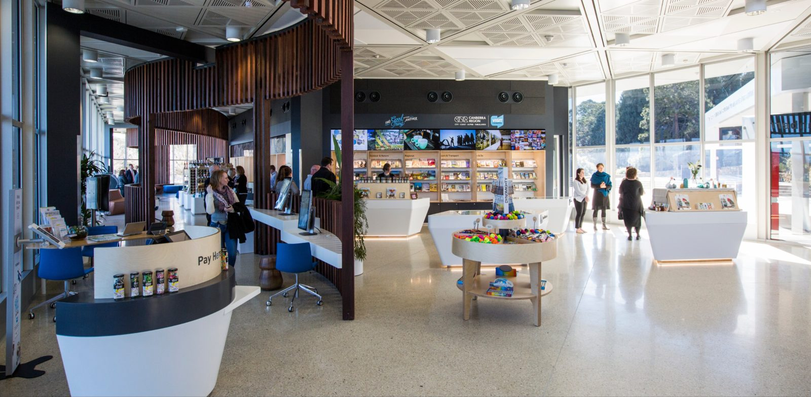 The Canberra and Region Visitors Centre interior