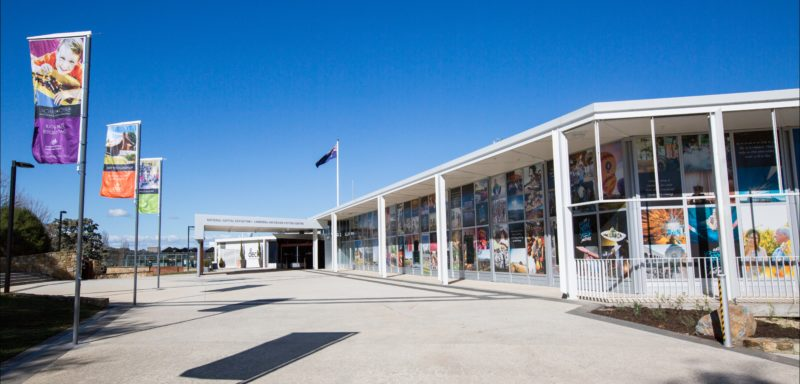 Exterior of the Canberra and Region Visitors Centre