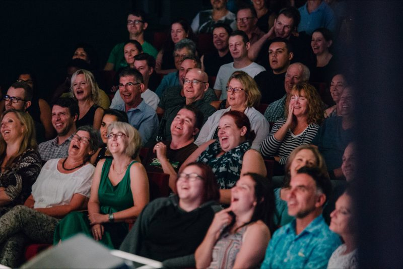 Audience members enjoying the Canberra Comedy Festival Gala