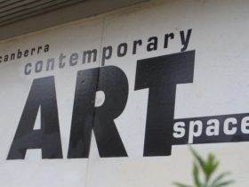 Canberra Contemporary Art Space signage