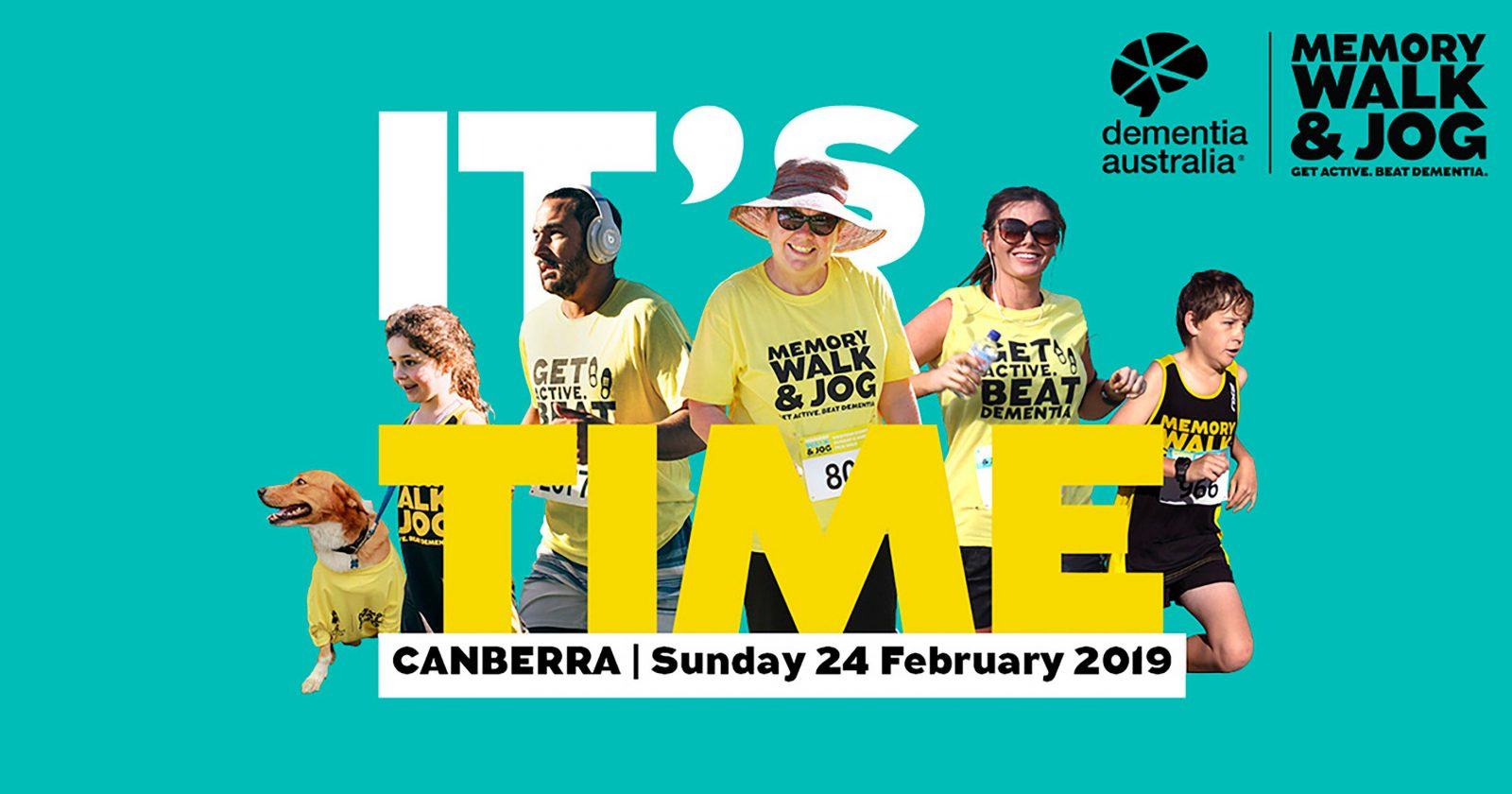 It's Time to Get Active and Beat Dementia. Register for Canberra Memory Walk & Jog today