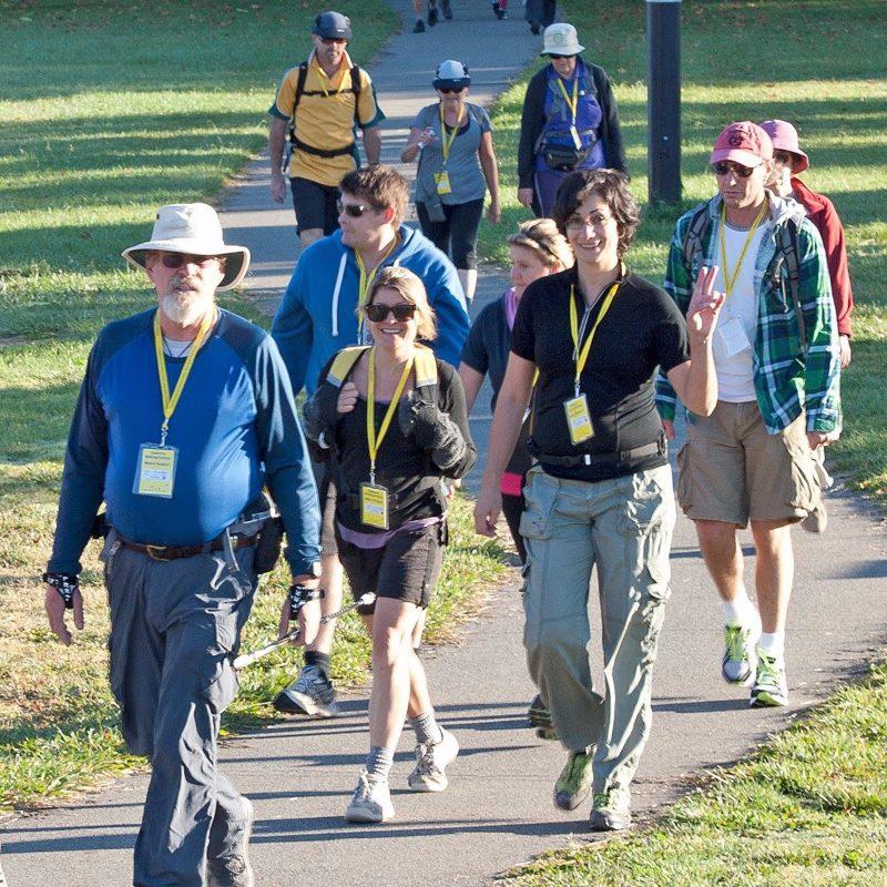Canberra Walking Festival participants