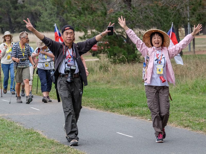 International walkers at the Canberra Walking Festival