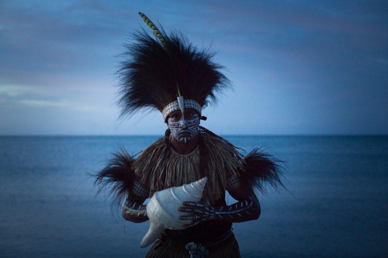 Francis Williams of the Naygayiw Gigi Dance Troupe