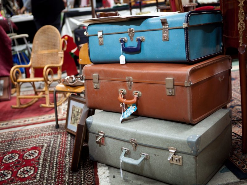 Vintage Suitcases at Old Bus Depot Markets