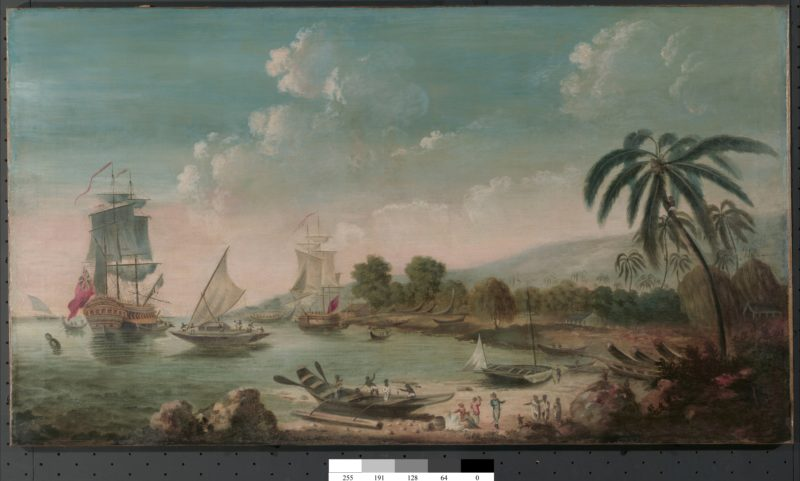 Pacific scene with ships