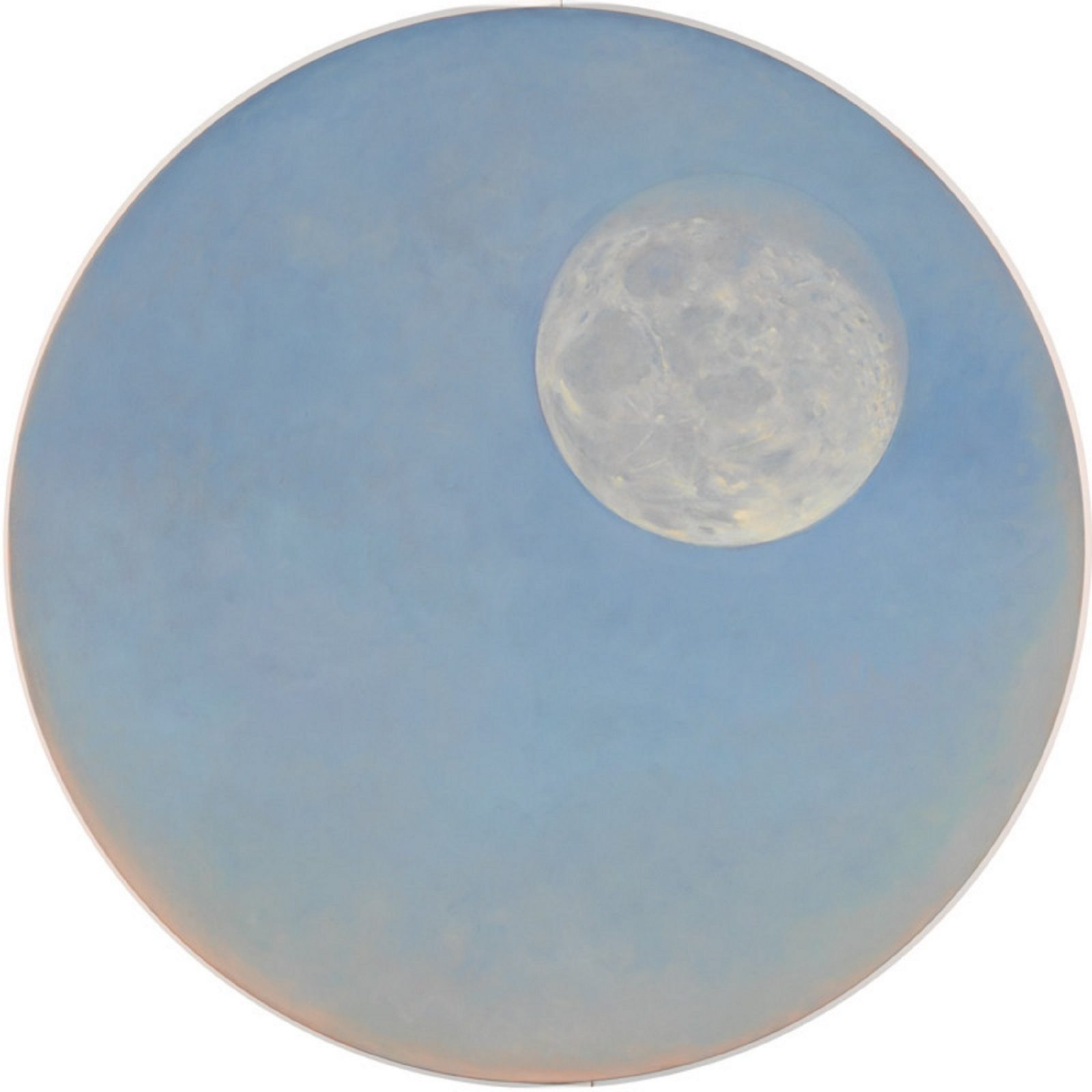 Janet Dawson, Moon at dawn through a telescope, January 2000, 2000, oil on canvas, NGA
