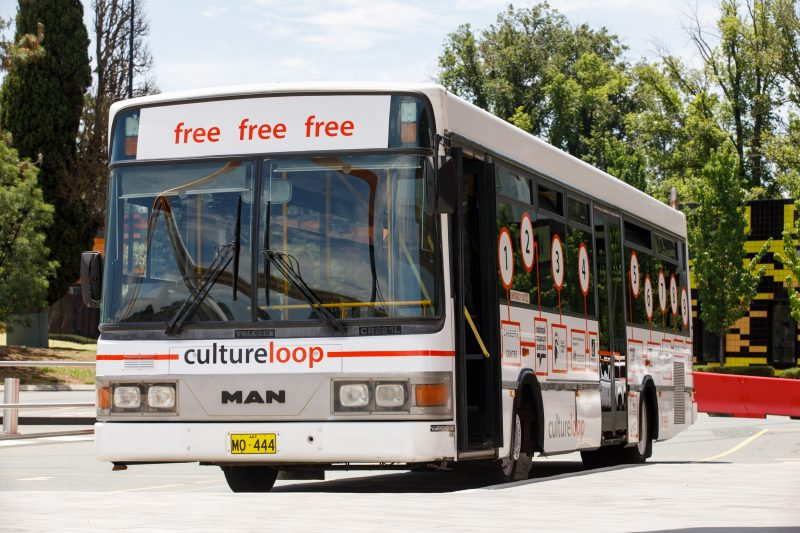 photo of Culture Loop branded bus