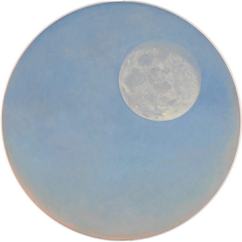 Janet Dawson Moon at dawn through a telescope, January 2000, oil on canvas, NGA