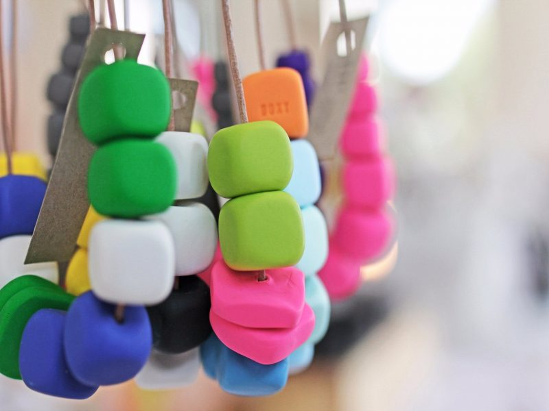 Polymer Necklaces at Old Bus Depot Markets