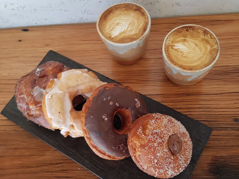 Coffees and doughnuts