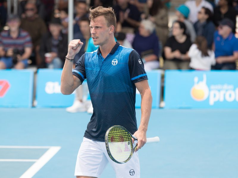 Marton Fucsovics at the East Hotel Canberra Challenger 2018