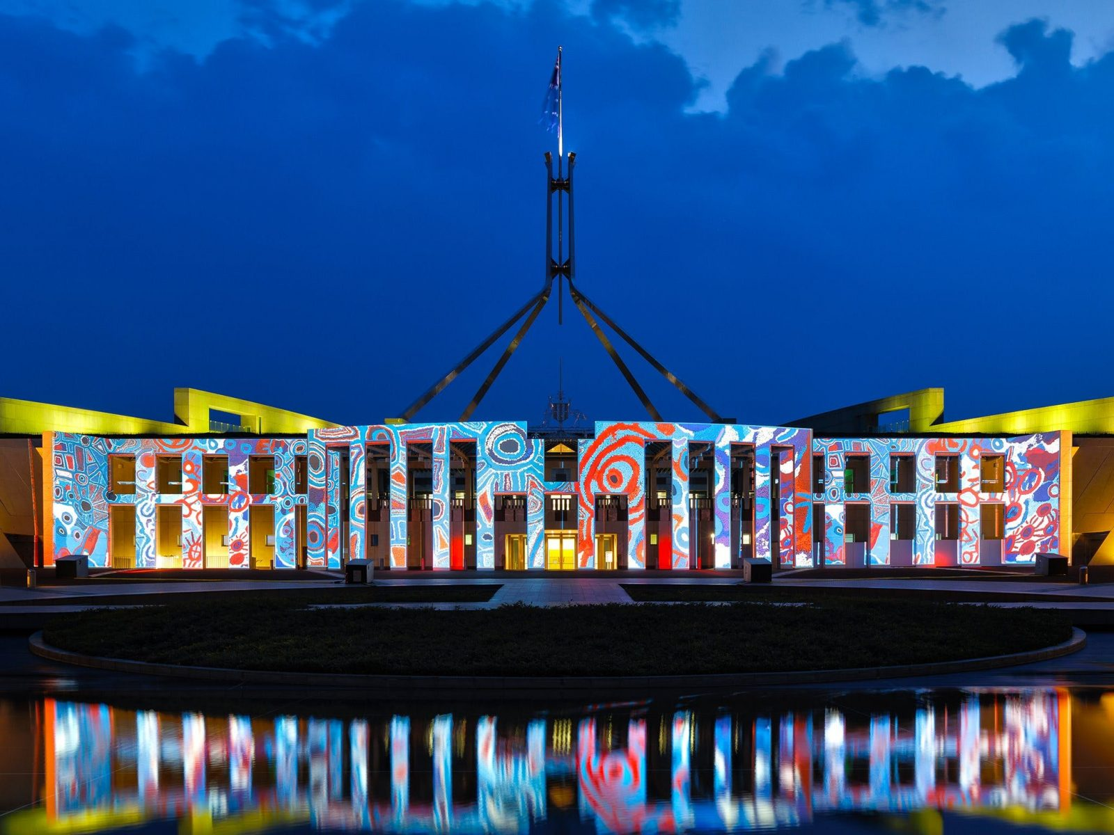 Architectural projections on Parliament House