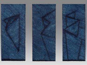 Keiko Amenomori-Schmeisser, Resting, Blue Crystal and Wind Fold