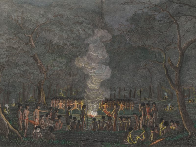 Corroboree, or Dance of the Natives of New South Wales, 1820 by Walter Preston.