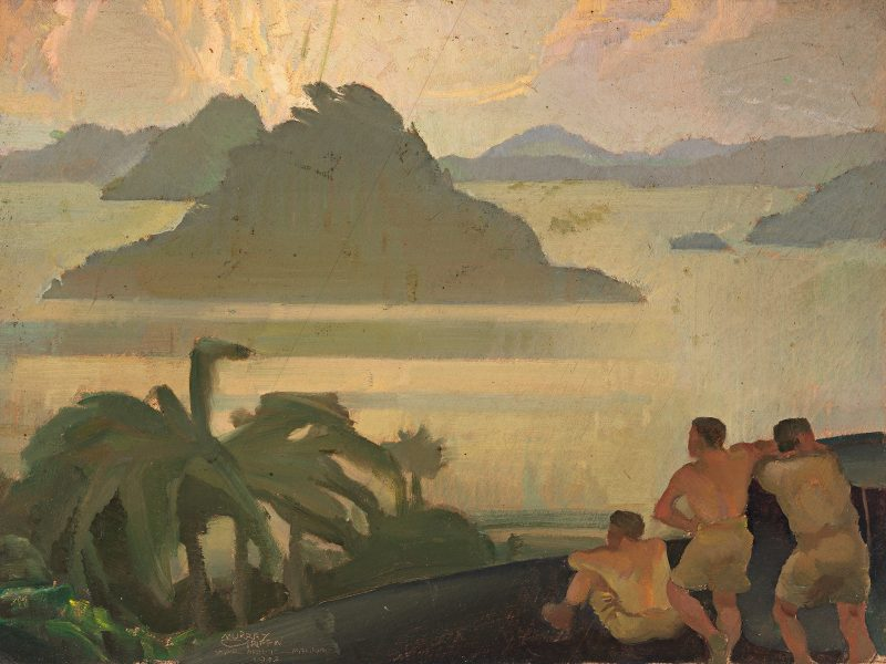 Murray Griffin, Looking towards home, 1942. (ART24470)