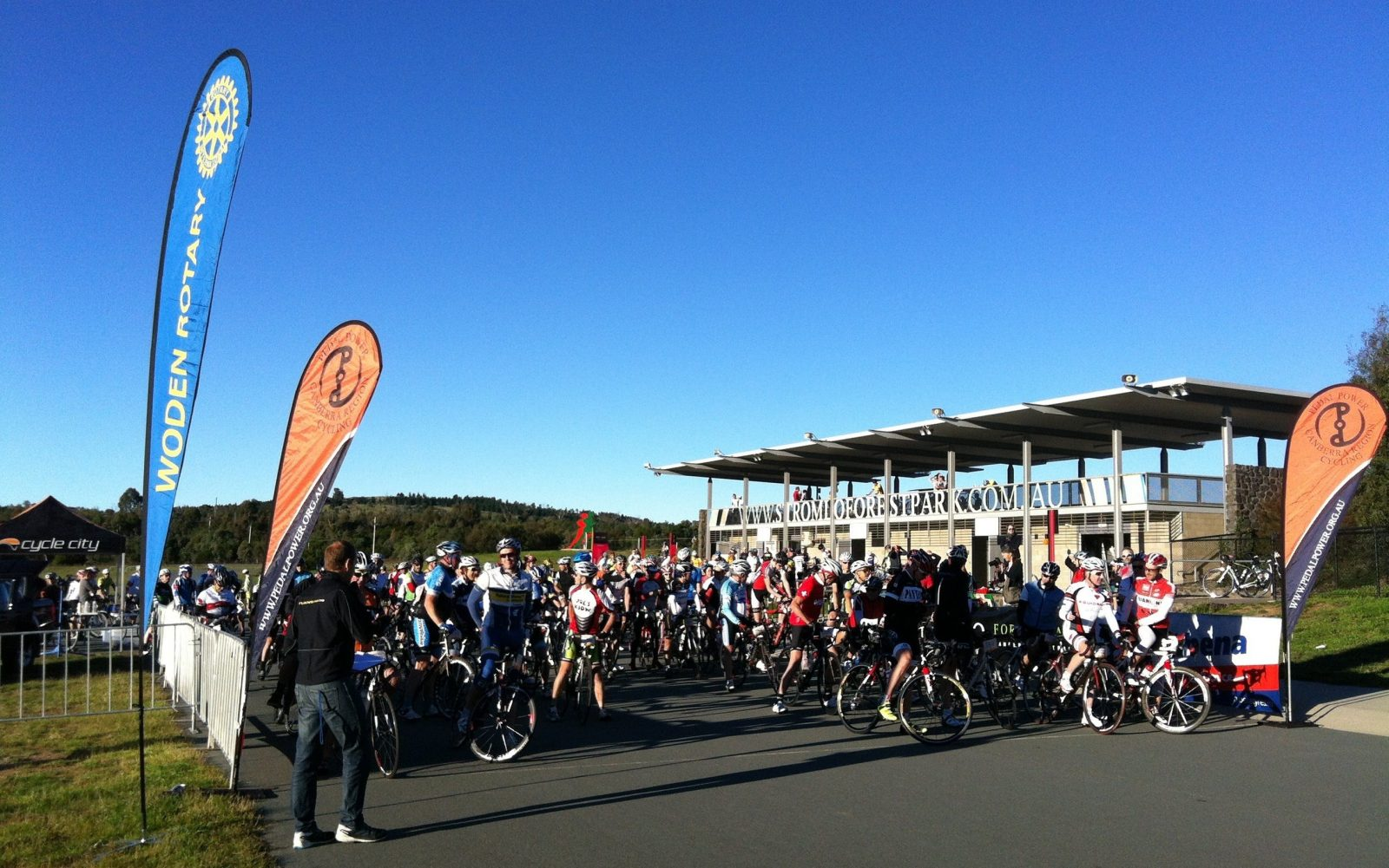 Ready for the start Stromlo Forest Park