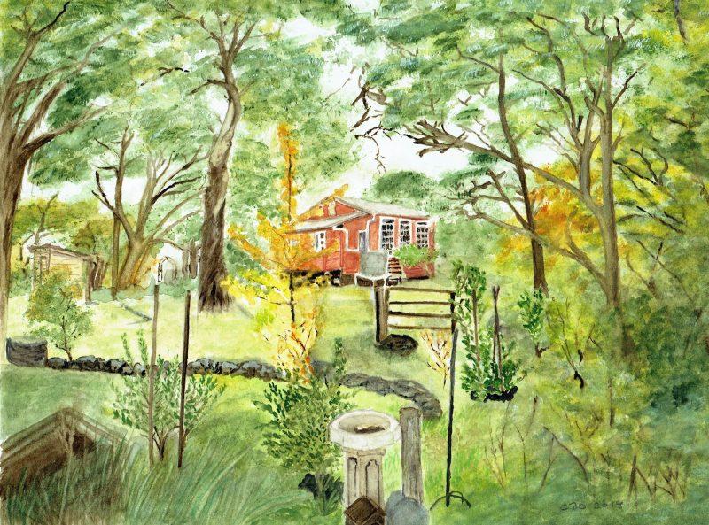 Burra School House by Cornelia Buchen-Osmond – Watercolour