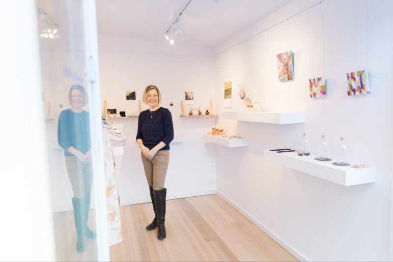 Director Anne Masters inside Gallery of small things
