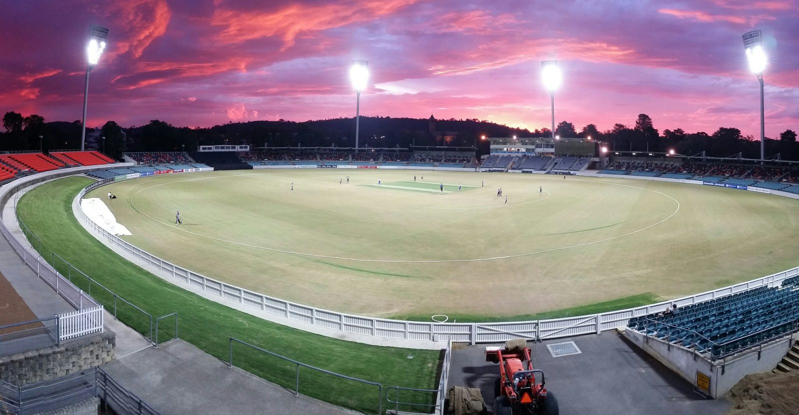 Manuka Oval in Canberra, ACT at sunset