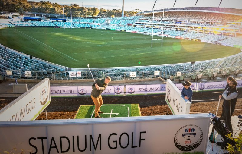 Amazing views of GIO Stadium when you play GIO Stadium Canberra.