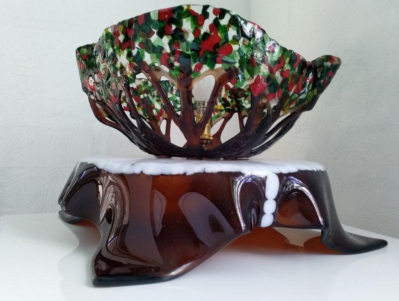 Draped kiln-formed glass