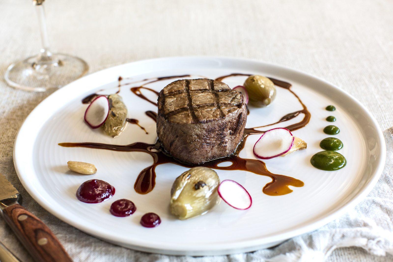 Steak dish at Helix