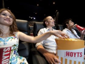 People enjoying a movie at Hoyts