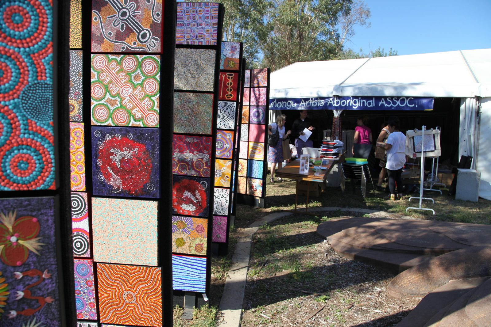 Indigenous Art Market stall at the 2018 markets