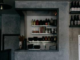Interior with shelf