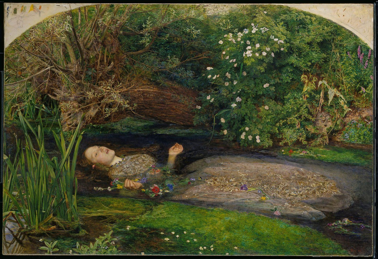 John E. Millais Ophelia 1851-52, oil on canvas, Tate © Tate, London 2018