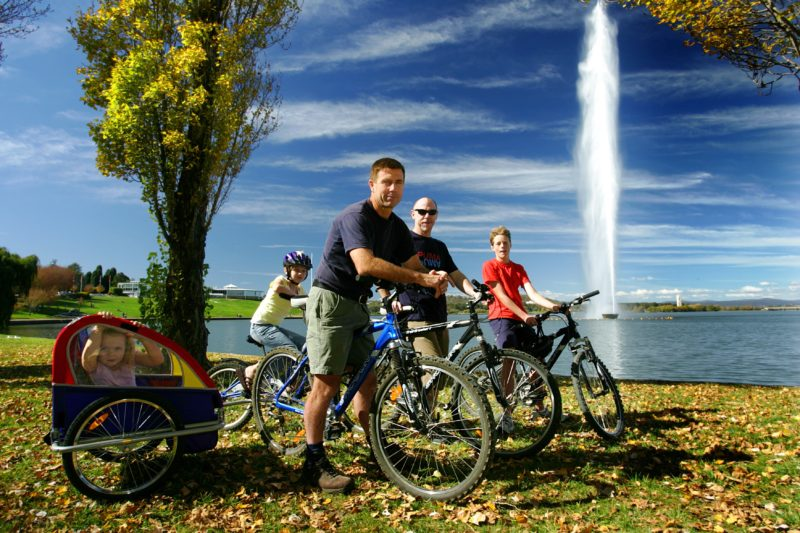 Hire bikes for the family