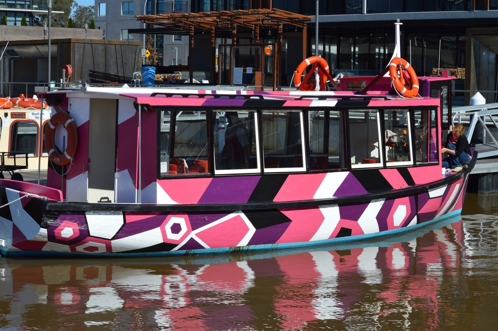 Boat painted bright colours