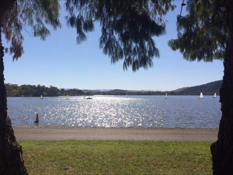 Views across Lake Burley Griffin to the Brindabella Ranges