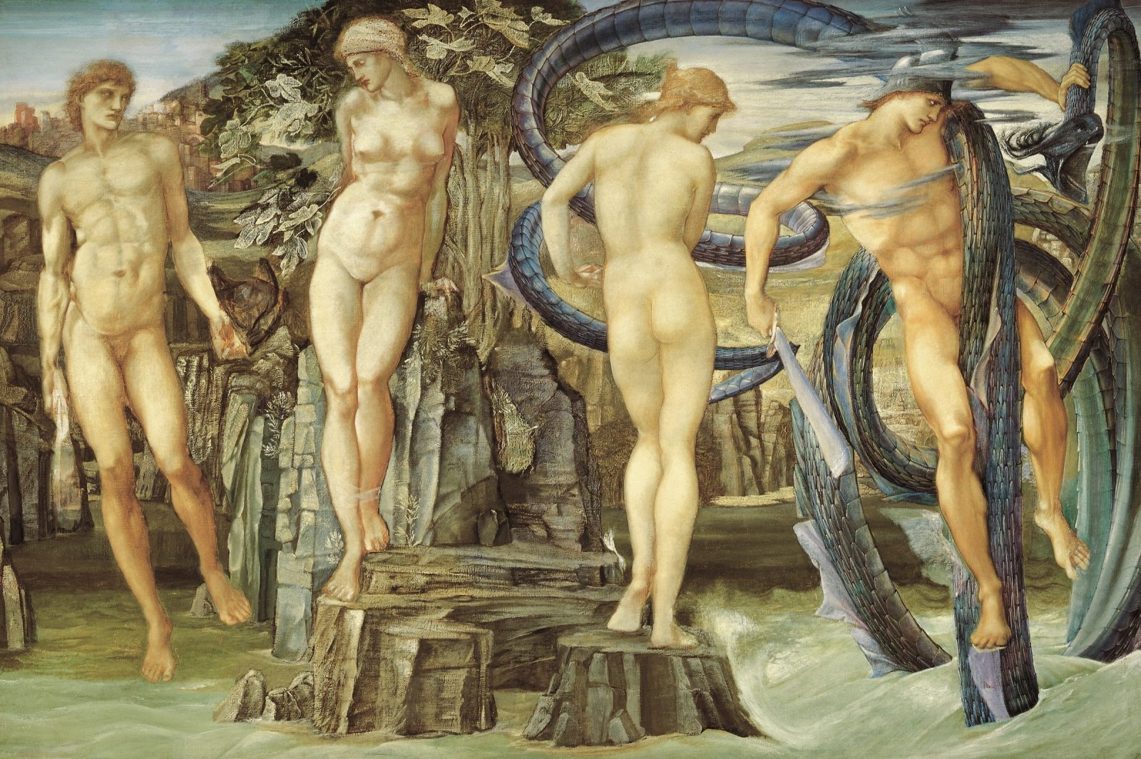 Edward Burne-Jones Perseus and Andromeda 1876, Elder Bequest Fund 1902, Art Gallery of SA