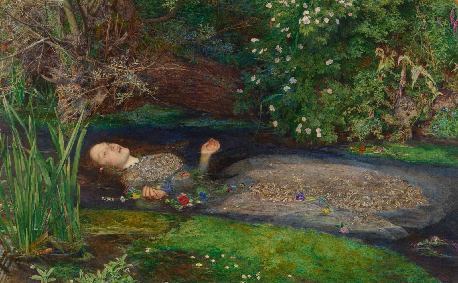 John Everett Millais Ophelia (detail) 1851-82 Image courtesy Tate Britain