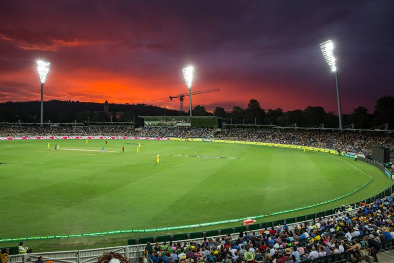 Manuka Oval during a night match